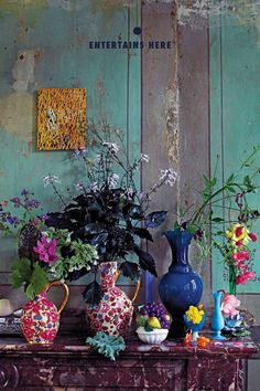 See Inside a Carefully Excavated Antwerp House - Interior ideas – colorful, colorful, eye-catching – wonderful interior ideas for the living roo - Color Inspiration, Interior Inspiration, Writing Inspiration, Estilo Kitsch, Stained Glass Door, Antwerp, Feng Shui, Bunt, Flower Arrangements