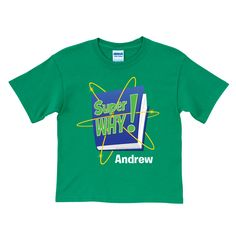 The Official PBS KIDS Shop | Super Why! Logo Green T-Shirt