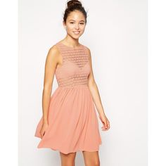 American Apparel Sleeveless Lace Chiffon Dress ($21) ❤ liked on Polyvore featuring dresses, peach, white lace dress, white chiffon dress, lace dress, pleated dress and peach dress