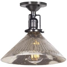 Mercury Glass Cone Industrial Ceiling Light