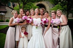 bride and bridesmaids bouquets | Mixed Red, White, and Pink Peonies for Kellys' Wedding - June 13, 2009 ...