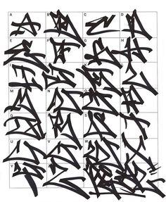 Graffiti Letters: 61 graffiti artists share their styles Tattoo Lettering Alphabet, Graffiti Lettering Fonts, Graffiti Writing, Graffiti Tagging, Street Art Graffiti, Graffiti Artists, Graffiti Alphabet Styles, Graffiti Styles, Photographie Street Art