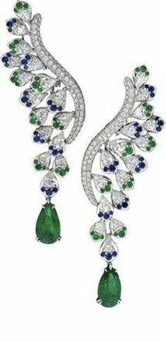 5 ct Green Pear Dangle Earrings 925 Sterling Silver Leaf Style Jewelry Cz Women* #Niki #DropDangle