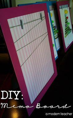 Memo Board, IKEA Frame, DIY, www.amodernteacher.com