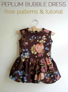 free peplum bubble dress tutorial and pattern