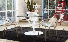 Sedie acacia ~ Bloom: sedia di design calligaris in metallo e policarbonato cs