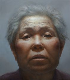 Yunsung Jang Mother #1  Oil on Canvas  84 x 96 inches