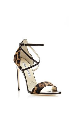 Brian Atwood Tamy Printed Calfhair Sandals - now on sale on Moda Operandi