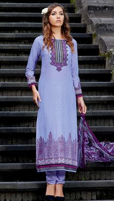 f15434689f Brijraj Fashion | Shop Women's Ethnic Wear Online in India. Embroidered  PatchPatches. Purple Cotton Print Resham Embroidered Patch Work On Neck Long  ...