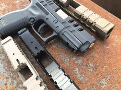Dynamics is the premier USA manufacturer of aftermarket Glock Slides & Springfield slides and accessories. Weapons Guns, Guns And Ammo, Springfield Xd, Custom Glock, Gun Art, Firearms, Hand Guns, Pew Pew, Sliders