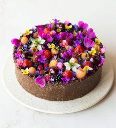 Gluten Free Crust, Gluten Free Cheesecake, No Bake Cheesecake, Mini Tortillas, Fruit In Season, Summer Fruit, Sin Gluten, Tray Bakes, Cupcakes