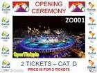 #Ticket  2 TICKETS  CAT. D  ZO001  OPENING CEREMONY  Rio Olympic Summer Games 2016 #deutschland
