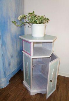 Fancy Kommoden Vintage Blumen Schrank Kommode SHABBY CHIC Mint ein Designerst ck von Alyonushka bei DaWanda
