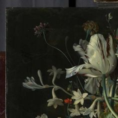Detail of Still Life with Flowers and Fruit by Jan van Huysum, Rijksmuseum (check out how to access the full thing via the Rijksstudio - I understand it should be free to use)