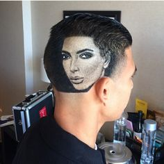 Rob doesn't just cut hair, he CREATES BEAUTIFUL SHAVED PORTRAITS ON PEOPLE'S HEADS.