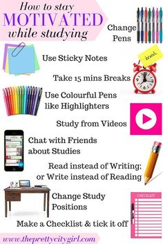 How to Stay Motivated while Studying
