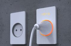 Shows how much energy you use: the INSIC wall socket | Design by Muhyeon Jake Kim, Korea | #electricity #power #energy #conservation #green #visualization #efficiency