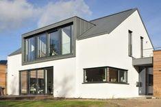 Farmhouse Style Homes Exterior Design Ideas - New Decoration Modern Farmhouse Exterior, Farmhouse Design, Farmhouse Style, Bungalow Exterior, Dormer Roof, Dormer Windows, House Extension Design, Roof Extension, Bungalow Extensions