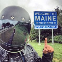 6 of 50  after a wild weekend in New York with the Gypsy crew I am looking forward to relaxing in Maine for a few days #kickback #netflix #relax #Maine #statesign #travel #adventure #explore #bikelife #twowheels #livetoride #ridetolive #harleywomen #gypsybiker #harleydavidson