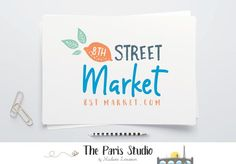 Hand Drawn Food Market Logo Design Handwriting Logo Design Green Logo Branding Design