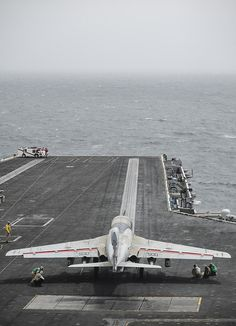 "NORTH ARABIAN SEA (July 16, 2013) -- An EA-6B Prowler assigned to the ""Gray Wolves"" of Electronic Attack Squadron (VAQ) 142 gets ready to launch off the flight deck of the aircraft carrier USS Nimitz (CVN 68). Nimitz Strike Group is deployed to the U.S. 5th Fleet area of responsibility conducting maritime security operations, theater security cooperation efforts and support missions for Operation Enduring Freedom"