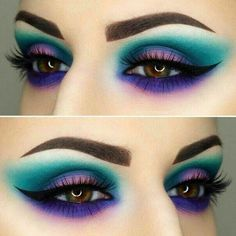 Perfect Blue and Light Blue Eye Makeup Pictures