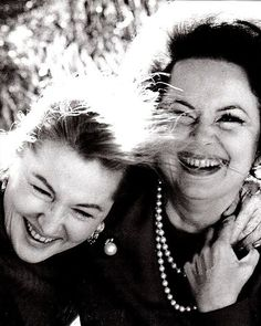 """Sisters, Joan Fontaine & Olivia de Havilland ~ When Olivia de Havilland was 9 years old, she made a will in which she stated """"I bequeath all my beauty to my younger sister Joan, since she has none"""". (Obviously their rivalry started early!)"""