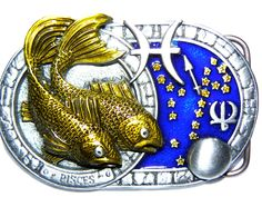 Designer Belt Buckles, Pisces Star Sign, Pewter, Stars, Gifts, Accessories, Tin, Presents, Zodiac Signs Pisces