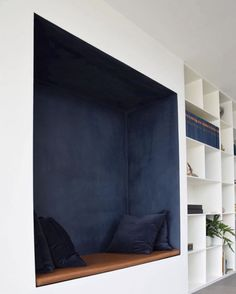 Blue Space, Built In Bench, Color Psychology, Data Sheets, Textured Walls, Deep Blue, Shades Of Blue, Beautiful Homes, Sweet Home