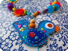 NEEDLEWORK missy: BIRD chain felt for children's handcrafts