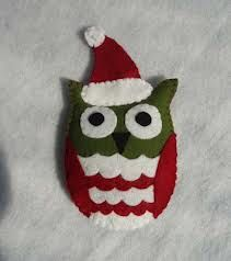 christmas bauble felt pattern - Google Search. Love the colours in this owl