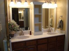 Another example of full wall mirror re-vamped and split with molding.