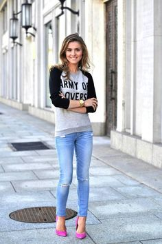 jeans & sweater & heels | Make Life Easier blog