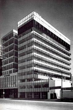 Edificio STIC (Sindicato de Trabajadores de la Industria Cinematográfica), calle De La Republica, Col. Tabacalera, Cuauhtémoc, México DF 1965  Arq. Manuel Rosen Morrison  STICBuilding, Col. Tabacalera, Cuauhtemoc, Mexico City 1965