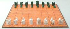 Ancient Chess Set Replica Shatranj Folding Board 9th Century Persian Style | eBay