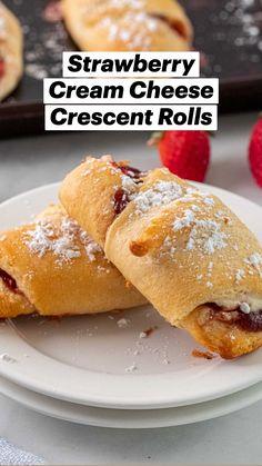 Donut Recipes, Healthy Dessert Recipes, Easy Desserts, Baking Recipes, Delicious Desserts, Yummy Food, Bigne Recipe, Goody Recipe, Cream Cheese Crescent Rolls