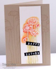 Watercolour Card using Stampin' Up! Pleasant Poppies Independent Demonstrator Tracy May (Bedlam & Butterflies)