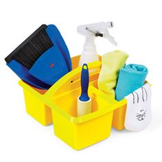 Cleaning kit. Cute idea for dramatic play.