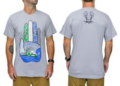 Eco Hand Bamboo Mens Tshirt - Baki Lifestyle Apparel- Made from Bamboo - 1