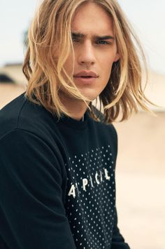 Image Result For Blonde Male Model Editorial Long Hair Styles