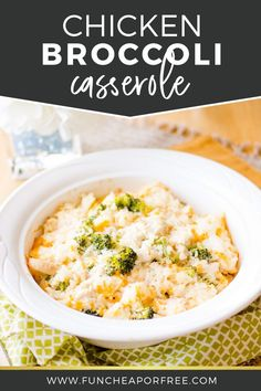 Chicken Broccoli and Rice Casserole. Try this quick easy favorite recipe of mine and wow your family, even kids will love it! from Fun Cheap or Free Chicken Broccoli Rice Casserole, Broccoli Chicken, Fresh Broccoli, Food Hacks, Food Tips, Food Blogs, Food Ideas, Easy Dinner Recipes, Dinner Ideas