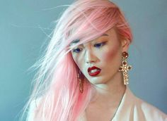 beauty editorial pink hair