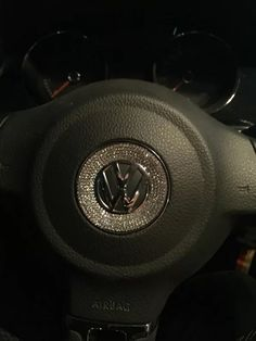 Bling VW Volkswagen Emblemfor Steering Wheel LOGO Sticker Decal Beetle
