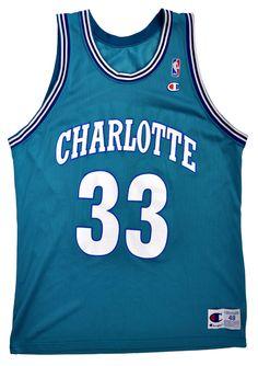 Alonzo Mourning Charlotte Hornets Replica Jersey - 48/XL