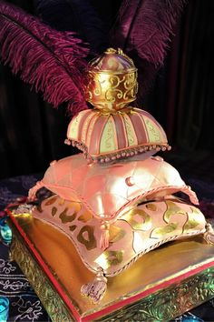 Whaaaaaat???  Amazing cake for a Morocan themed wedding.  I can't believe it's not cushions - Moroccan Pillow Wedding Cake