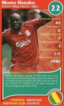 2007 Top Trumps Specials Liverpool #NNO Momo Sissoko Front