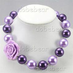 69b403cd35e2 Nb30658 púrpuras grandes hijos de la perla del grano grueso subieron niños  collar de la joyería
