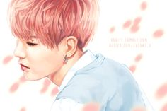 【 FA - SUGA 】i kinda miss the pink-haired yoongi (。´ A`。) #방탄소년단  #슈가 #윤기 (original pic: @sugacrush0309 ) ♡♡♡