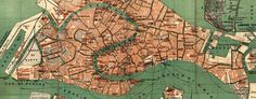 #map of #Venice by Wagner and Debes (1886) Love Venice!