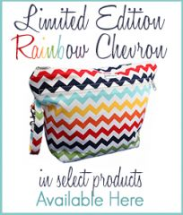 Diaper Clutch - Stow It All - Limited Edition Rainbow Chevron  love this diaper clutch! perfect for toting around Applecheeks cloth diapers!!